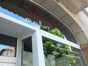Schaufenster Maßalelier Donath